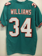 Ricky Williams TURQUOISE Autographed Jersey w/JSA