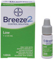 BAYER BREEZE 2 BLOOD GLUCOSE MONITORING SYSTEM # 7098M - Blood Glucose Test Strips, DME-M, CLIA Waived, 50/btl
