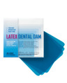 "Crosstex Dental Dams # 19100 - Dental Dam, Medium, Blue, 5"" x 5"", Unflavored, 52 sheets/bx"