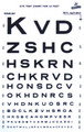 Graham Field Grafco Snellen Type Plastic Eye Chart # 1264 - Careforde Healthcare Supply