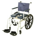 "Invacare Mariner, Rehab Shower Commode Chair # 6895 - Rehab Shower Chair, 24"" Treaded Urethane Tires, 18"" Seat, outer width 26.5"", Each"