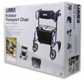 LUMEX HYBRIDLX ROLLATOR TRANSPORT CHAIR # LX1000B
