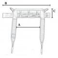 LUMEX SURELIFT EASY COMFORT PADDED TOILET SLING # 3116200 - Medium Toilet Sling