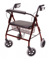LUMEX WALKABOUT BARIATRIC IMPERIAL FOUR-WHEEL ALUMINUM ROLLATORS # RJ4402R