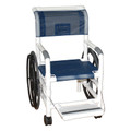 "MJM SHOWER CHAIRS ""100"" SERIES # 130-18-24W-SL - Self Propelled Aquatic/Rehab Shower Transport 18"""