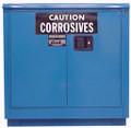 "SECURALL ACID / CORROSIVE STORAGE CABINET # C224 - 24 gallon, Self-Close, Self-Latch Sliding Door, 1 shelf, 36""H x 35""W x 22""D, each"
