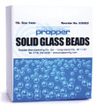 Propper Chemical Glass Beads # 3000200 - Glass Beads, 1Mm Dia, 1 Lb/Bx
