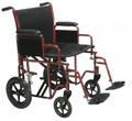Bariatric Heavy Duty Transport Wheelchair with Swing away Footrest # btr20-r