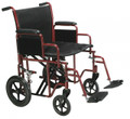 Bariatric Heavy Duty Transport Wheelchair with Swing away Footrest # btr22-r