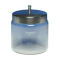 Darby Dental Supply Glass Dressing Jars With Metal Covers # 951-1441 - Careforde Dental Supply