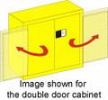 SECURALL ACID & CORROSIVE STORAGE CABINET # C130 - 30 Gal. Self-Latch Standard 2-Door, 44 x 43 x 18