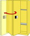 SECURALL ACID & CORROSIVE STORAGE CABINET # C230 - 30 Gal. Self-Close, Self-Latch Sliding Door, 44 x 43 x 18
