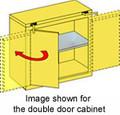 SECURALL ACID & CORROSIVE STORAGE CABINET # C330 - 30 Gal. Self-Close, Self-Latch Safe-T-Door, 46 x 43 x 18