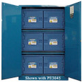 SECURALL ACID & CORROSIVE STORAGE CABINET # C145 - 45 Gal. Self-Latch Standard 2-Door, 65 x 43 x 18