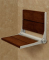 HealthCraft Invisia Collection SerenaSeat Fold-Away Brazilian Walnut Shower Seat # INV-WS18-PCG