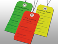 """ELKAY EQUIPMENT TAGS # TDER - """"Dirty"""" Equipment Tag, Red, 2 5/16"""" x 4¾"""", 500/cs - Careforde Healthcare Supply"""
