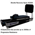 "Shuttle Systems Recovery Device # 5300 - Recovery Device, Sport Package with Elasticord Resistance 12.5 lbs.-300 lbs at Full Extension, Widebody Carriage 500 lb Capacity, 24"" x 48"", 6 Wheels, Each"