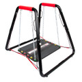 Shuttle Systems Balance Training Device # 8010 - Safety Bar Grips Made of Foam & Vinyl For Added Comfort, Elastic Dampeners, Balance Platform Supports up to 500 lbs. & Balance Step with Removable Non-Skid Surface, Each