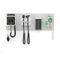 WELCH ALLYN GREEN SEREIS (GS) 777 INTEGRATED WALL SYSTEMS # 77791-1MPX - System Includes: Wall Board, Wall Transformer (77710), Panoptic Ophthalmoscope (11810), Diagnostic Macroview Otoscope (23810), Kleenspec Dispenser (52400-PF), Wall Aneroid (7670 (10248947)