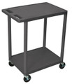 Medline 2-Shelf Tub Carts # EVSHE32BLK