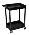 Medline 2-Shelf Tub Carts # EVSSTC11BLK
