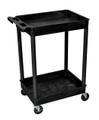 Medline 2-Shelf Tub Carts # EVSSTC11BLK