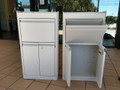 LAKESIDE NARCOTIC CABINETS - Two door with single lock, top drawer, set of 2