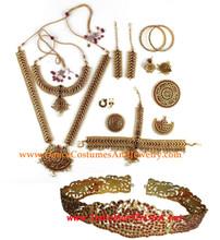 Bharatanatyam jewelry set