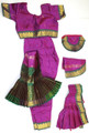 Bharatanatyam dance costume ready made Apoorva silk MagGrn34