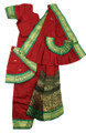 Bharatanatyam costume readymade Apoorva silk MrnGrn34