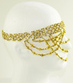 Belly dance head set with gold beads M0015