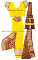 Bharathanatyam dance costume ready made Brocade silk YelMrn34