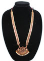 Moon bit maala single pendant dance jewelry long chain