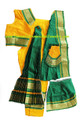 Copy of Bharatanatyam costume readymade art silk YelGrn32