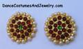 Imitation temple jewellery stud for Bharatanatyam dance.