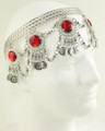 Belly dance head set with red stones M058
