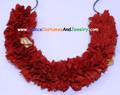 Cloth flower string Maroon or dark Red