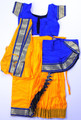 Bharatanatyam dress skirt style readymade art silk YelDbu38
