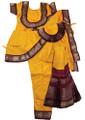 Bharatanatyam costume readymade Apoorva silk YelMrn34