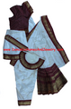 Bharatanatyam dress readymade apoorva silk WhtMrn34