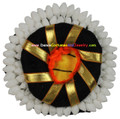 Paper hair flower ring with bun for Bharathanatyam or Kuchipudi dancer