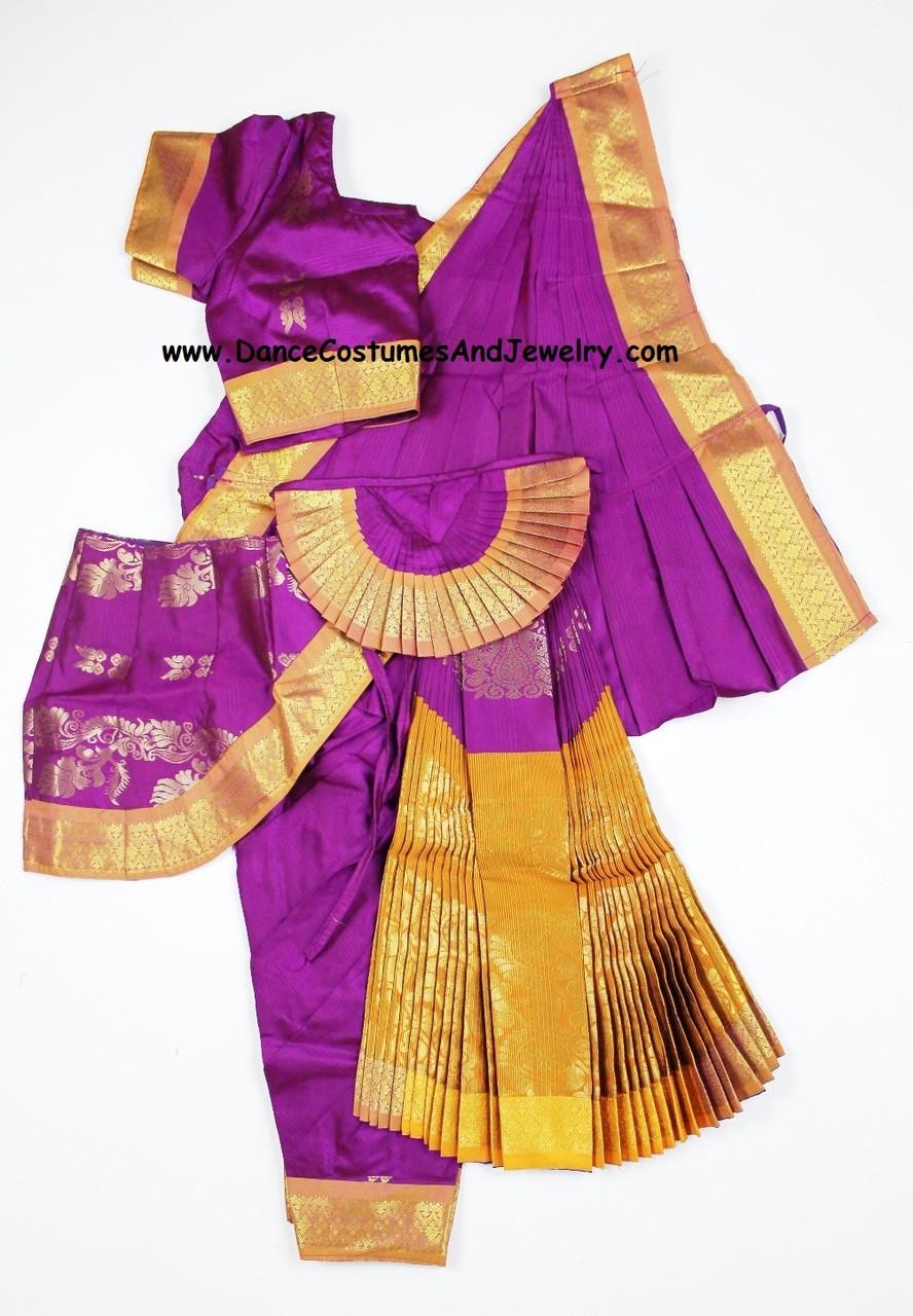 Bharatanatyam costume readymade apoorva silk PurMus38