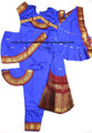 Bharatanatyam dance dress readymade Apoorva silk DBluMrn36