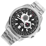 Orient Analog Stainless Steel Automatic Mens Sports Watch ET0Q003B