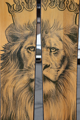 EXP with Jamaican Lion on Bamboo