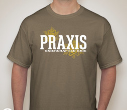 Praxis Skiercrafted Skis Prairie Dust T-Shirt
