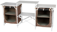 OZtrail Camping Camp Kitchen Double Pantry Table