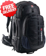 Caribee Grand Air 70 Ltr Backpack Travel Back Pack Bag - Front View