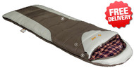 OZtrail Alpine View -12 Celcius Sleeping Bag - 220 x 80cm - (Color Brown & White)