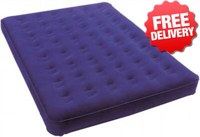 Caribee Velour Air Bed Mat Mattress Double Inflatable - Front View